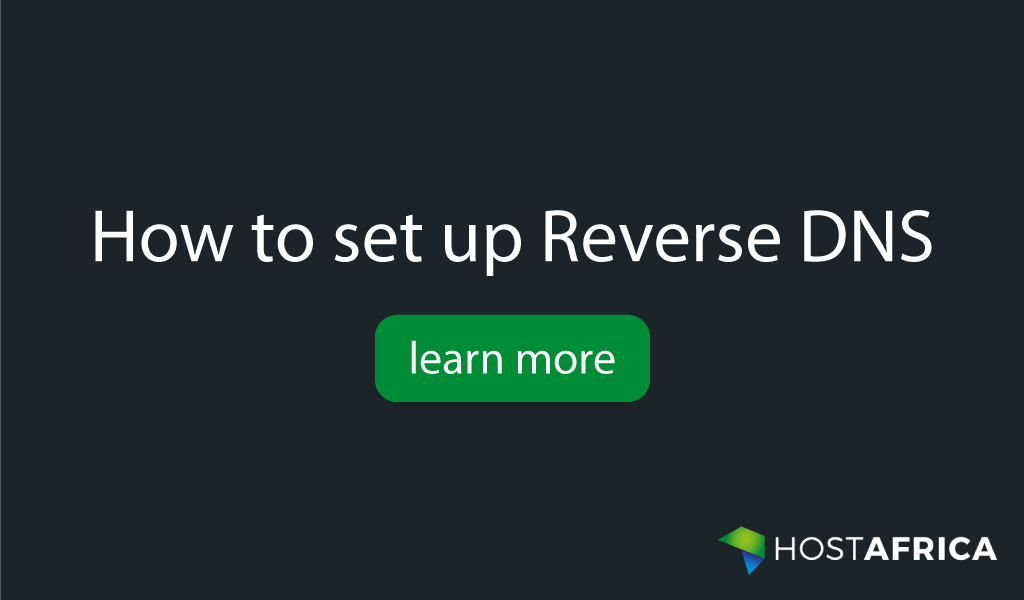 How to set up Reverse DNS